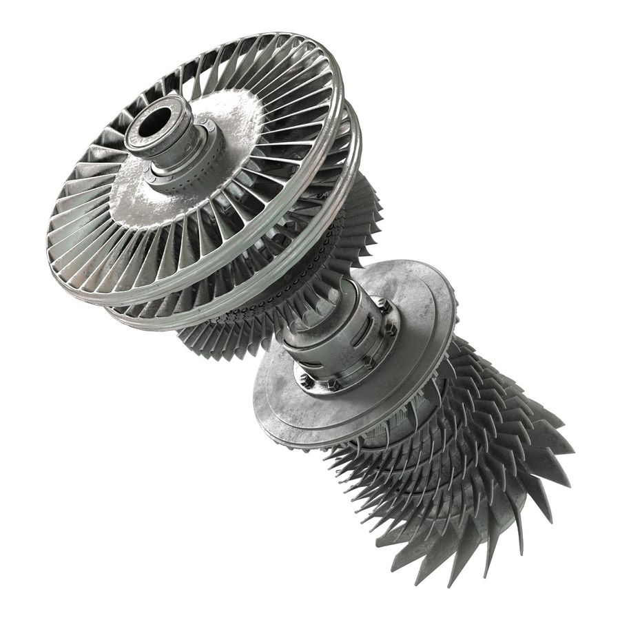Turbine 3 royalty-free 3d model - Preview no. 10