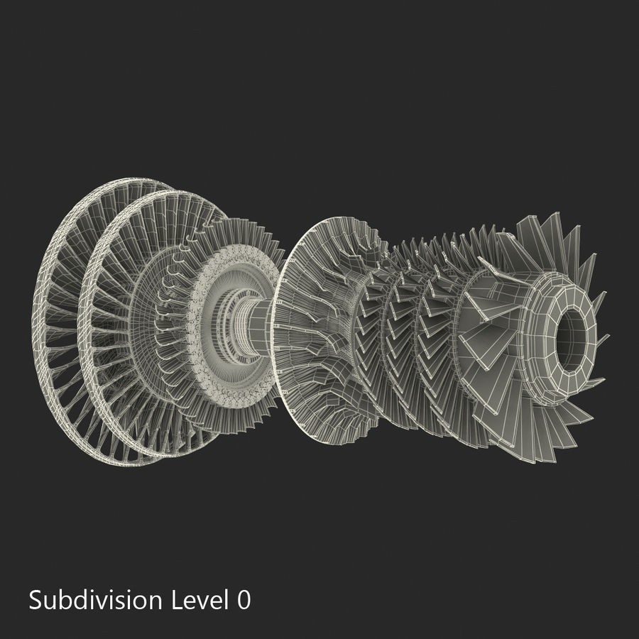 Turbine 3 royalty-free 3d model - Preview no. 19