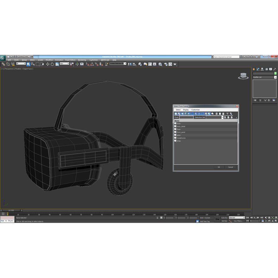 Oculus Rift royalty-free 3d model - Preview no. 22