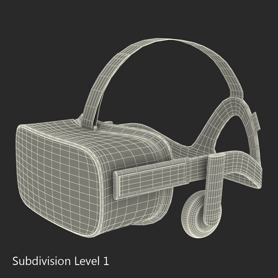 Oculus Rift royalty-free 3d model - Preview no. 19