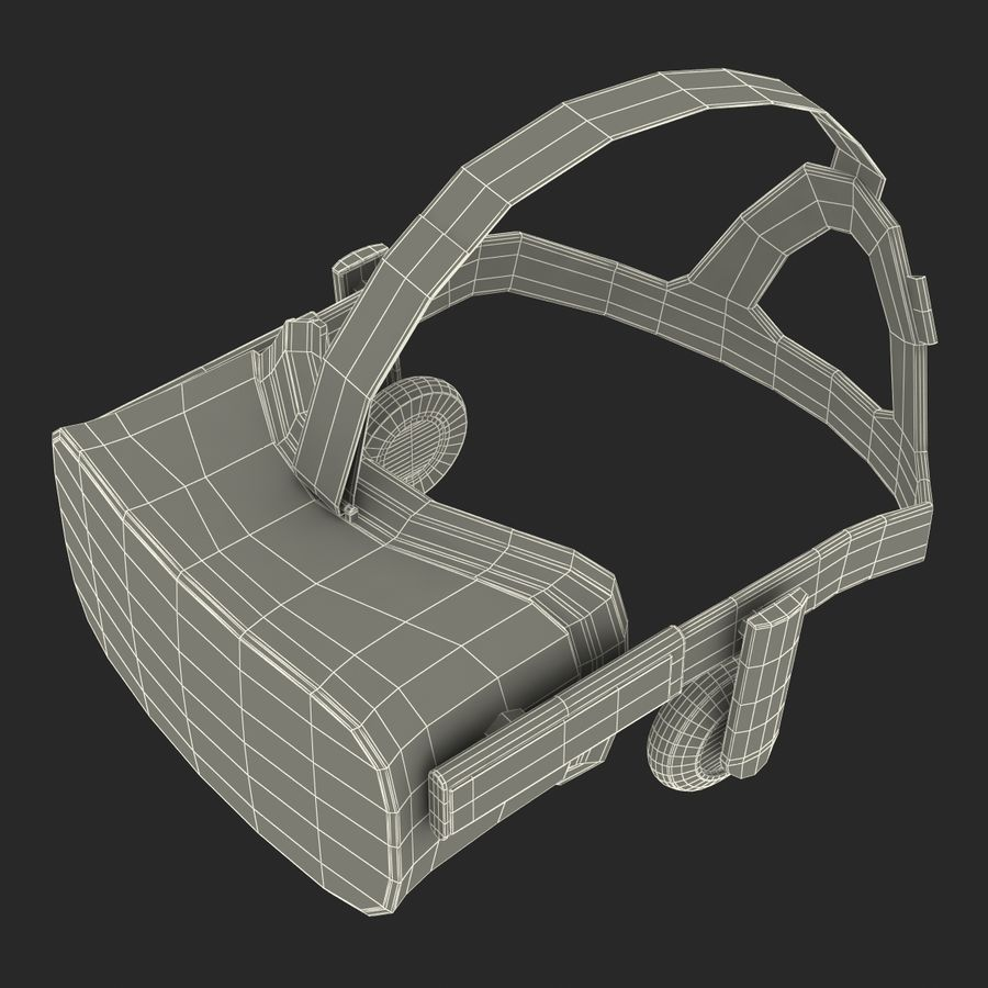 Oculus Rift royalty-free 3d model - Preview no. 25