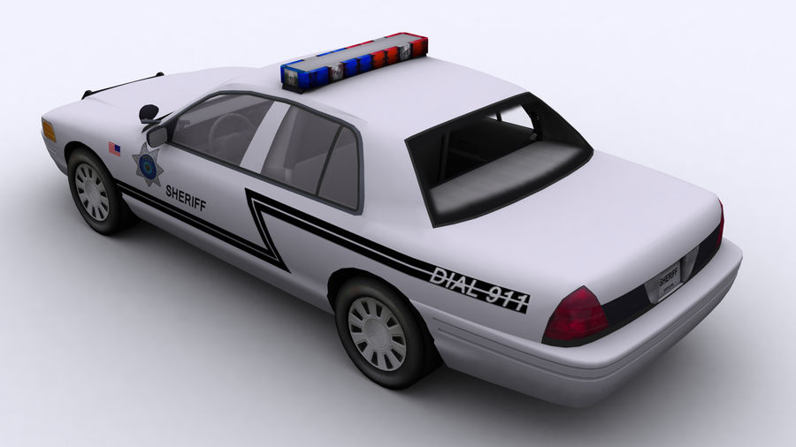 Politieauto royalty-free 3d model - Preview no. 6