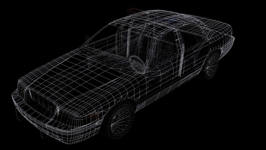 Police Car royalty-free 3d model - Preview no. 9