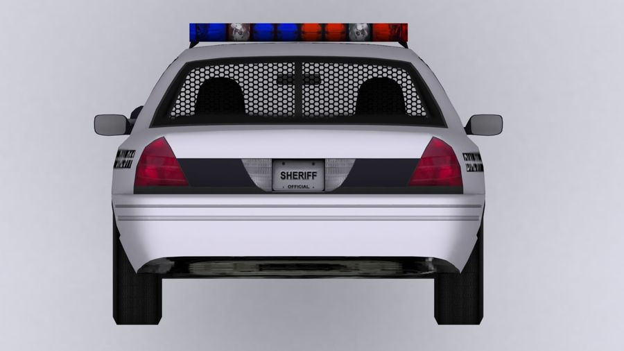 Police Car royalty-free 3d model - Preview no. 8