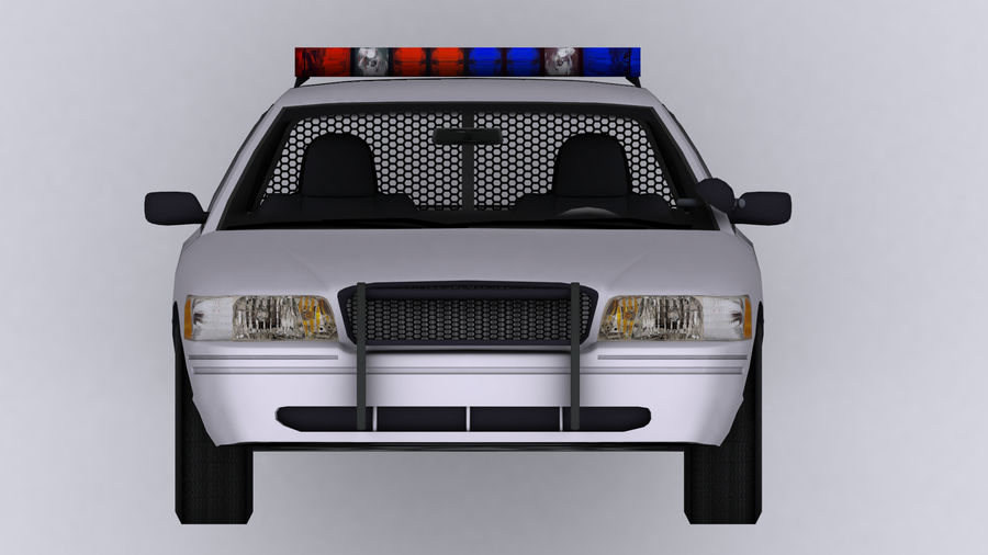 Politieauto royalty-free 3d model - Preview no. 7