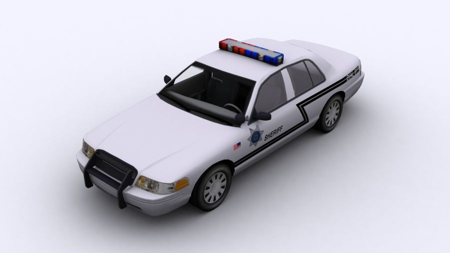 Politieauto royalty-free 3d model - Preview no. 1