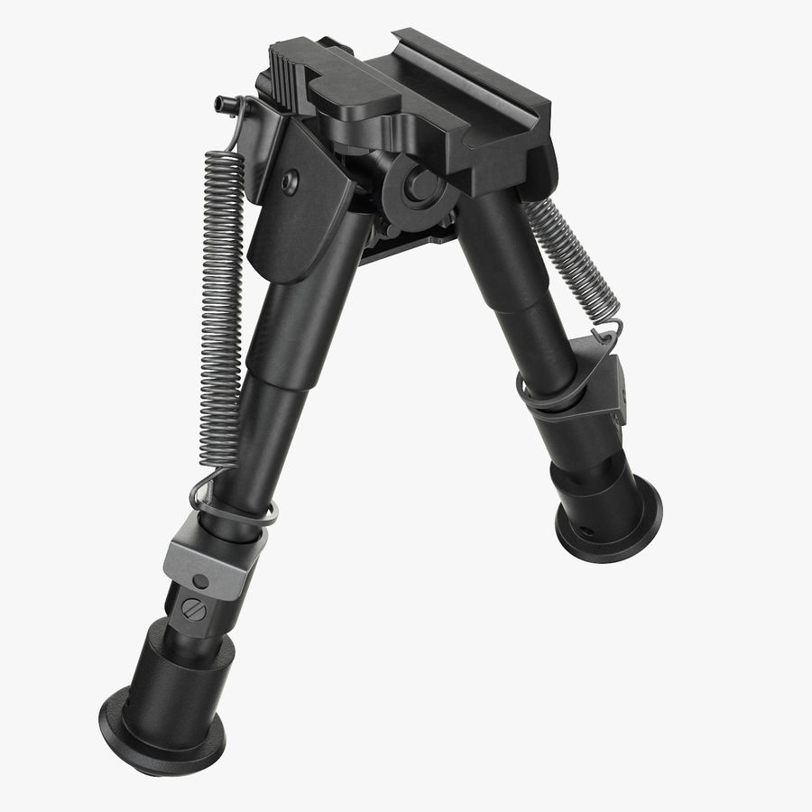 Sniper rifle bipod royalty-free 3d model - Preview no. 10
