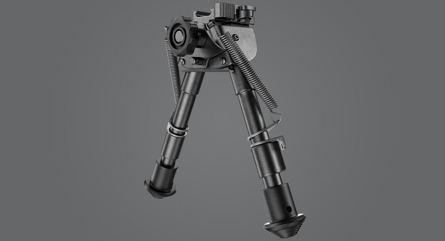 Sniper rifle bipod royalty-free 3d model - Preview no. 3