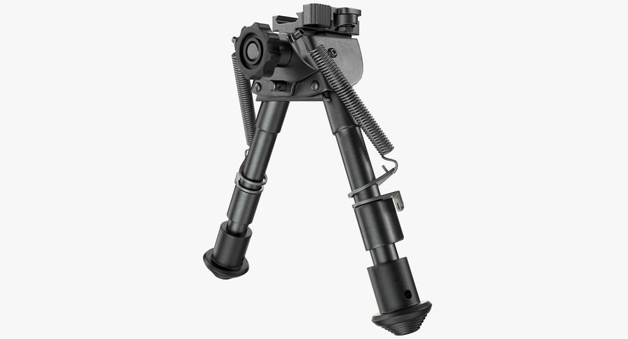 Sniper rifle bipod royalty-free 3d model - Preview no. 2