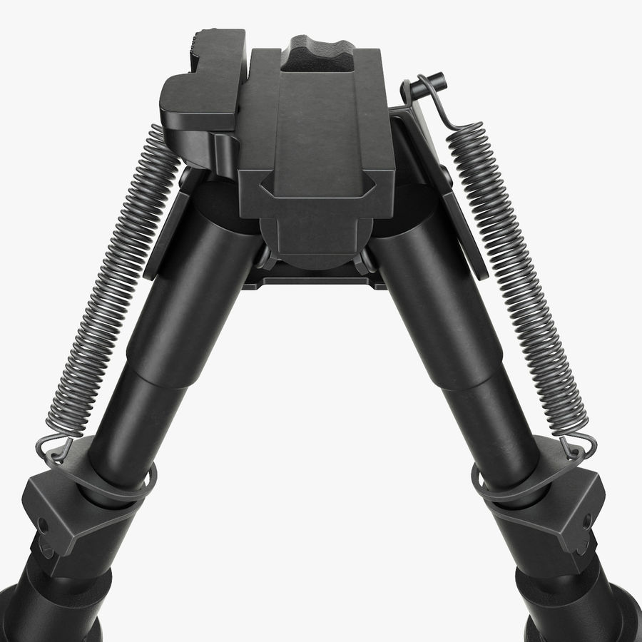Sniper rifle bipod royalty-free 3d model - Preview no. 8