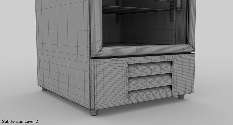 Refrigerator Display royalty-free 3d model - Preview no. 16