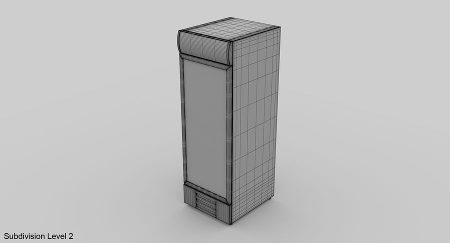 Refrigerator Display royalty-free 3d model - Preview no. 10