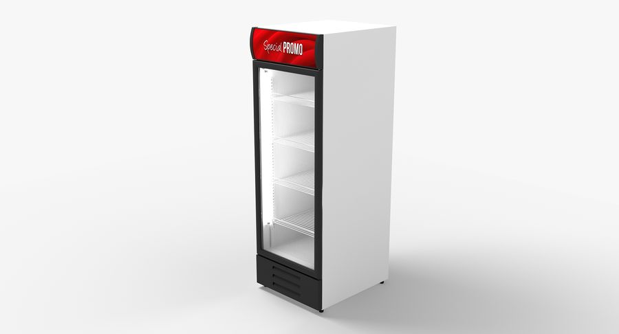 Refrigerator Display royalty-free 3d model - Preview no. 4