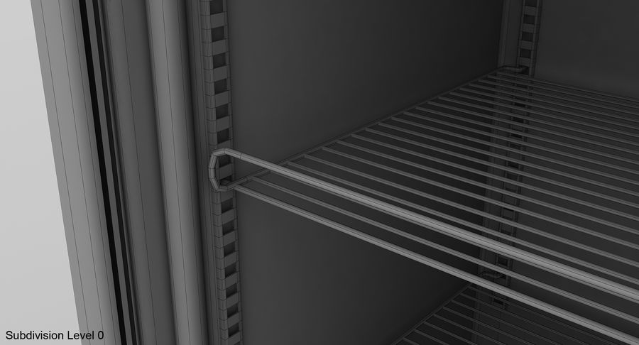 Refrigerator Display royalty-free 3d model - Preview no. 17
