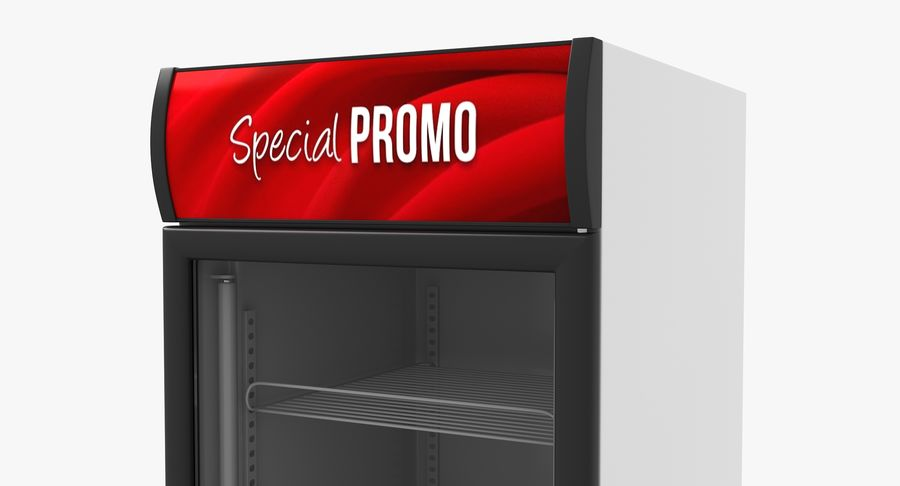 Refrigerator Display royalty-free 3d model - Preview no. 8