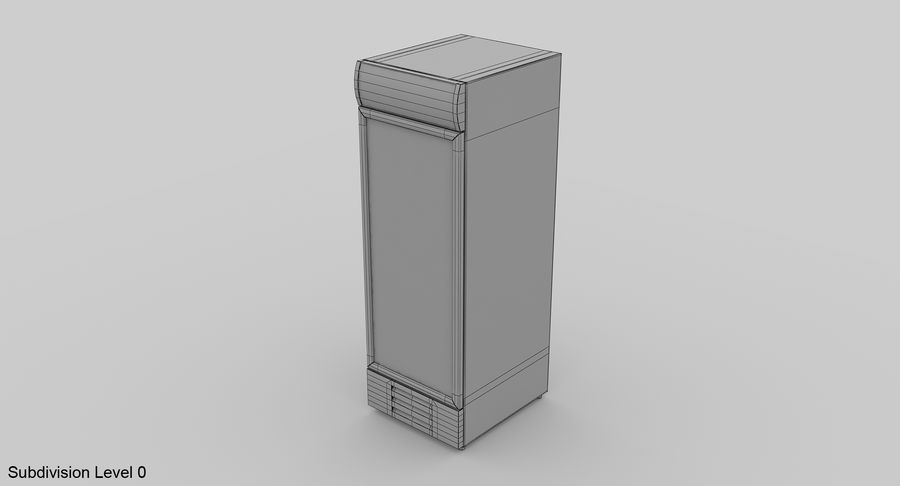 Refrigerator Display royalty-free 3d model - Preview no. 9