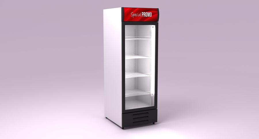Refrigerator Display royalty-free 3d model - Preview no. 3