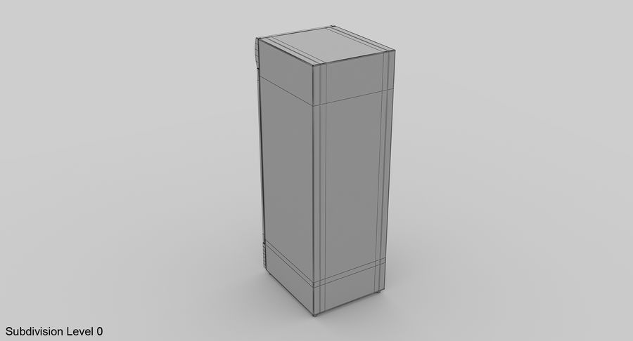 Refrigerator Display royalty-free 3d model - Preview no. 11