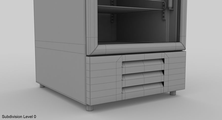 Refrigerator Display royalty-free 3d model - Preview no. 15