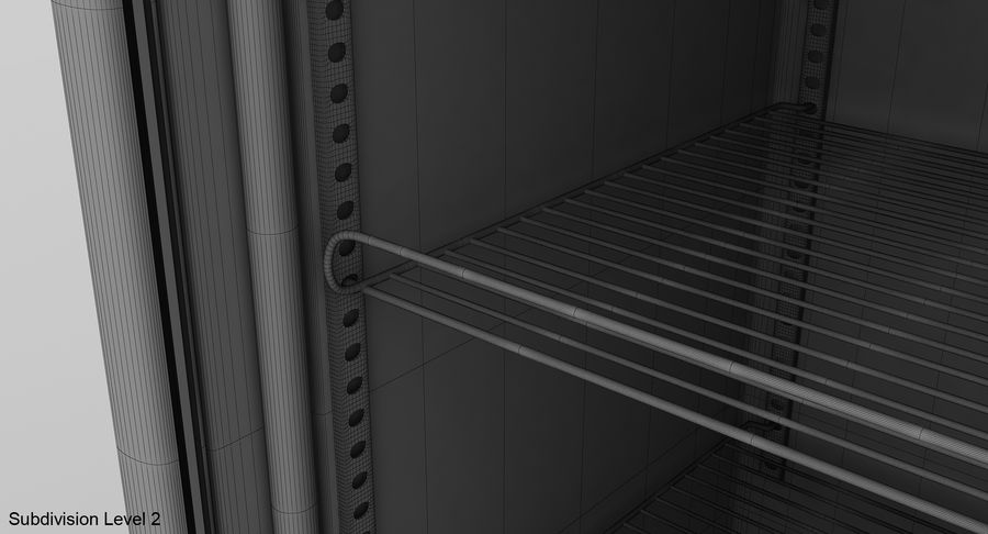 Refrigerator Display royalty-free 3d model - Preview no. 18