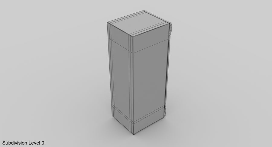 Refrigerator Display royalty-free 3d model - Preview no. 13