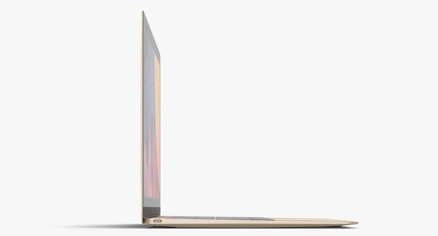 Apple MacBook Gold royalty-free 3d model - Preview no. 5