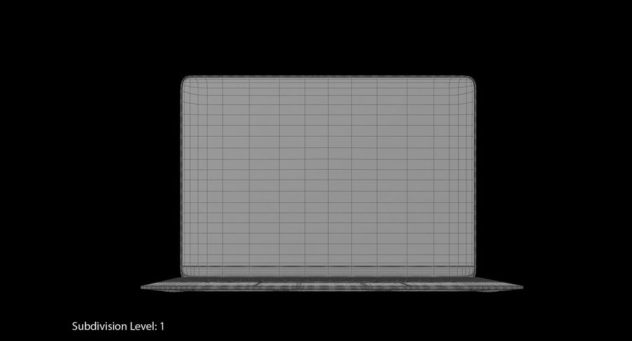 Apple MacBook Gold royalty-free 3d model - Preview no. 11