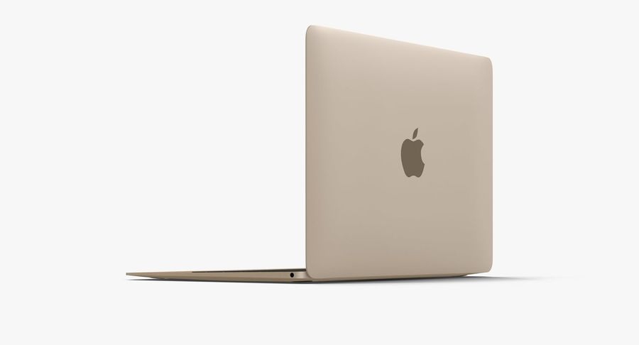 Apple MacBook Gold royalty-free 3d model - Preview no. 6