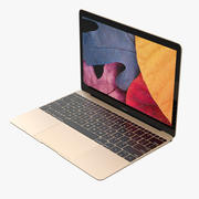 Apple MacBook Gold modelo 3d