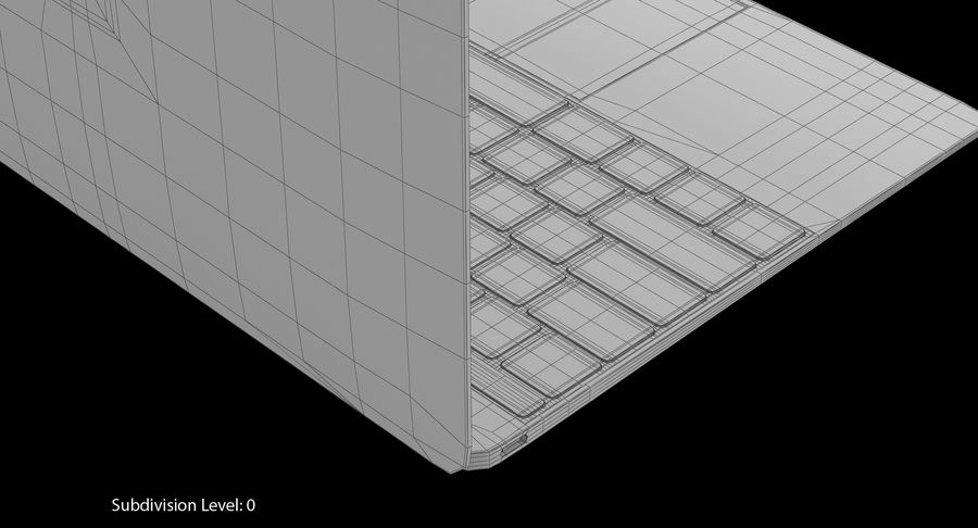 Apple MacBook Gold royalty-free 3d model - Preview no. 12