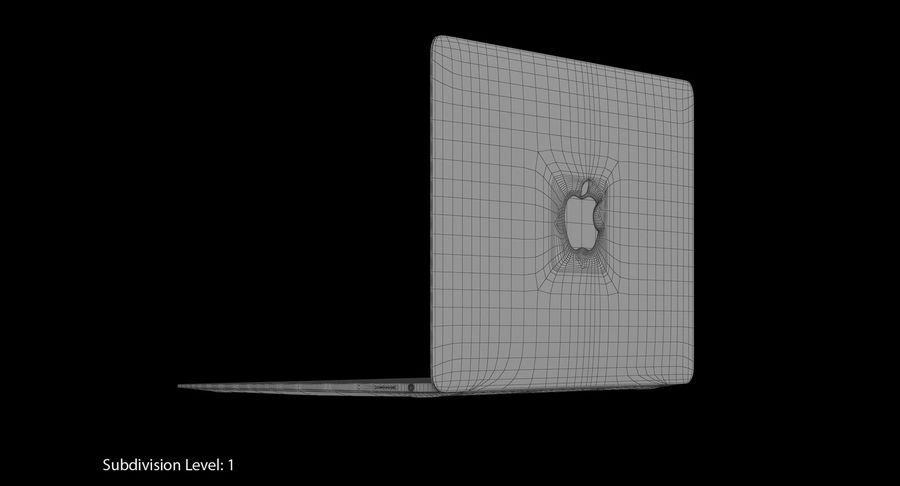 Apple MacBook Gold royalty-free 3d model - Preview no. 17