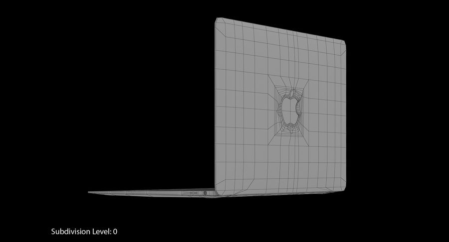 Apple MacBook Gold royalty-free 3d model - Preview no. 16