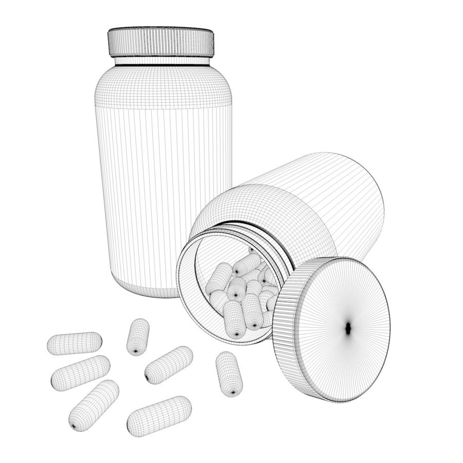 Bottle and pill (2) royalty-free 3d model - Preview no. 10