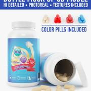 Bottle and pill (2) 3d model