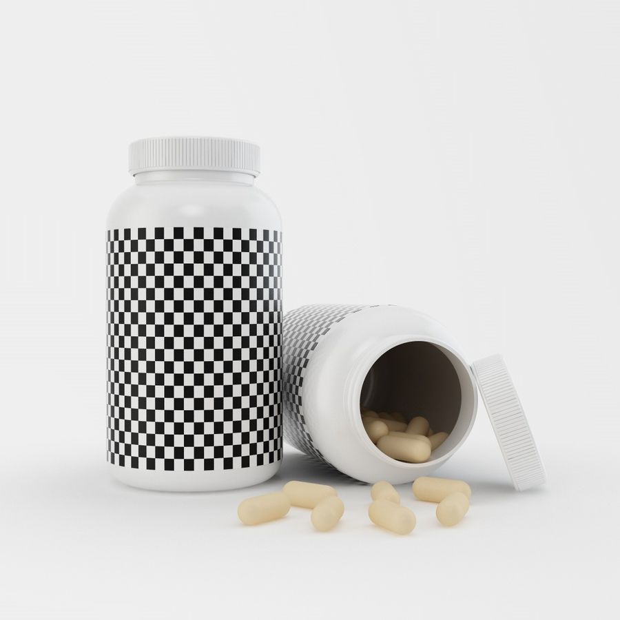 Bottle and pill (2) royalty-free 3d model - Preview no. 7