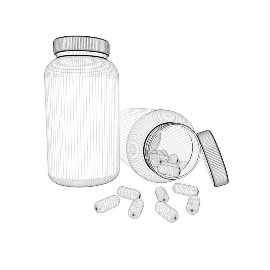 Bottle and pill (2) royalty-free 3d model - Preview no. 8