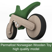 오토바이 영구 동토층 나무로되는 간단한 장난감 3d model