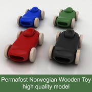 Race / sport Car Permafrost Norwegian Wooden simple Toy 3d model