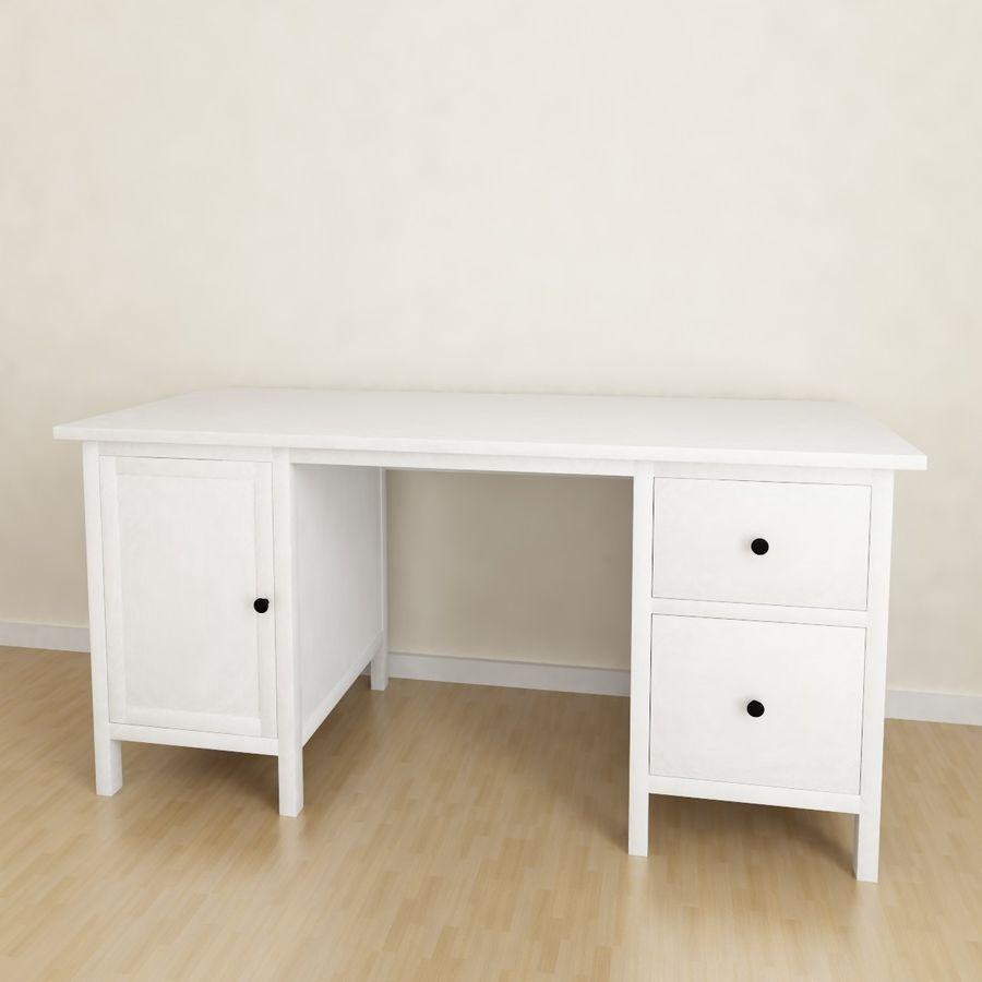 Ikea Hemnes-bureau royalty-free 3d model - Preview no. 1