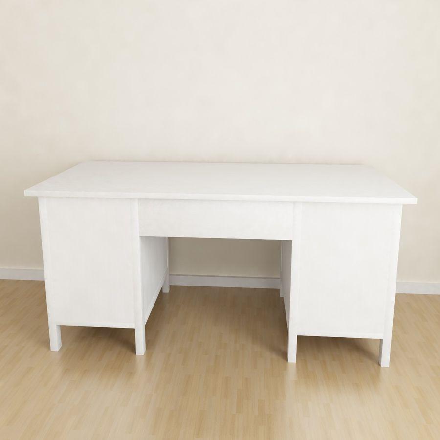 Ikea Hemnes-bureau royalty-free 3d model - Preview no. 3