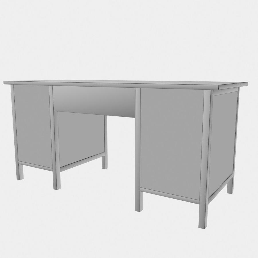 Ikea Hemnes-bureau royalty-free 3d model - Preview no. 5