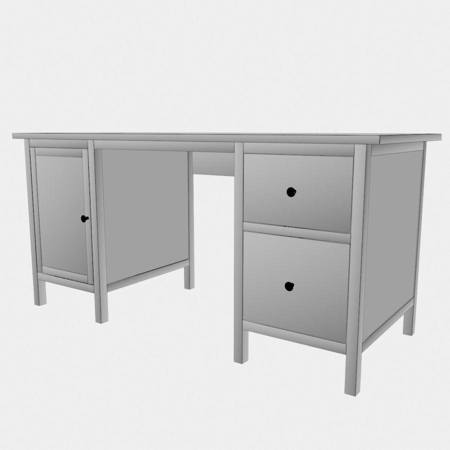 Ikea Hemnes-bureau royalty-free 3d model - Preview no. 4
