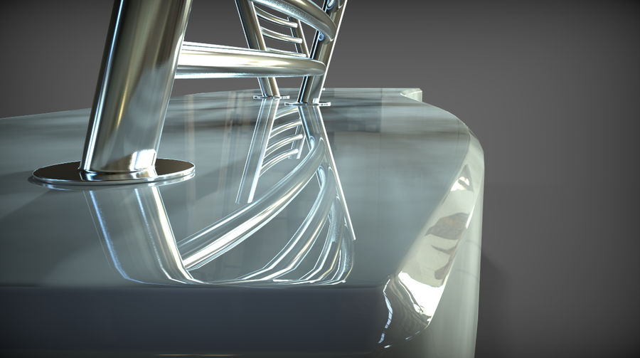 Marble Bench royalty-free 3d model - Preview no. 15