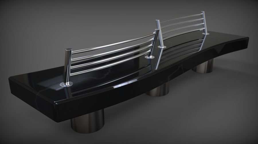 Marble Bench royalty-free 3d model - Preview no. 22