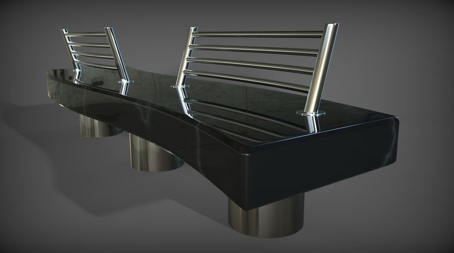 Marble Bench royalty-free 3d model - Preview no. 16