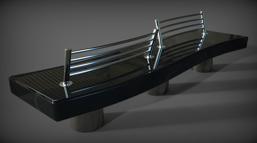 Marble Bench royalty-free 3d model - Preview no. 23