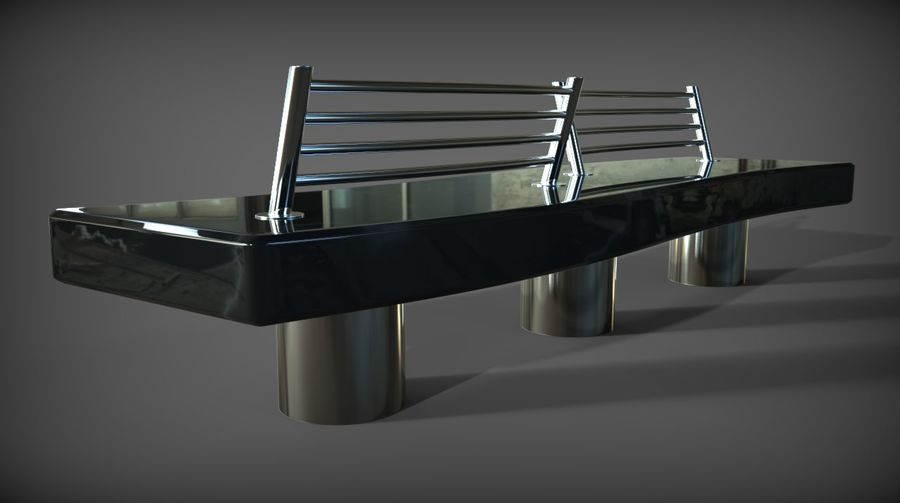 Marble Bench royalty-free 3d model - Preview no. 17