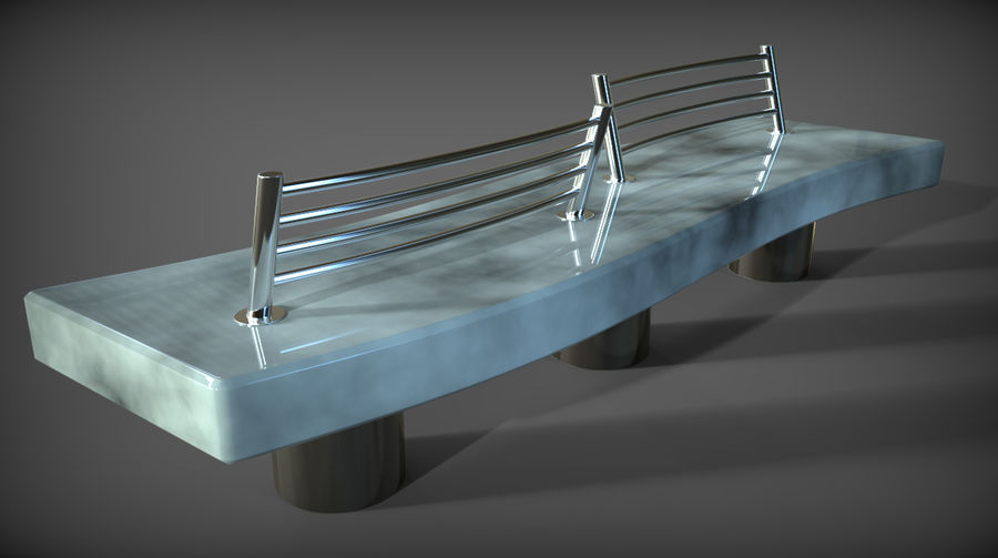 Marble Bench royalty-free 3d model - Preview no. 12