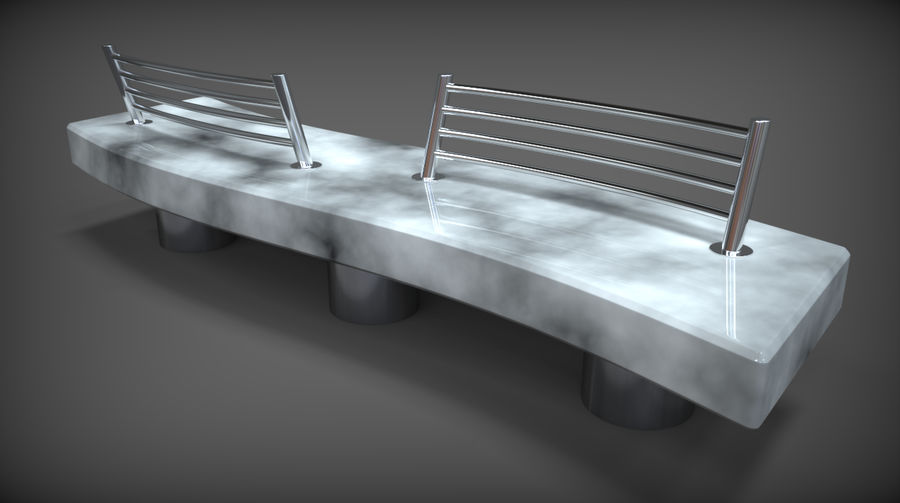 Marble Bench royalty-free 3d model - Preview no. 11
