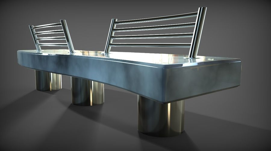 Marble Bench royalty-free 3d model - Preview no. 13